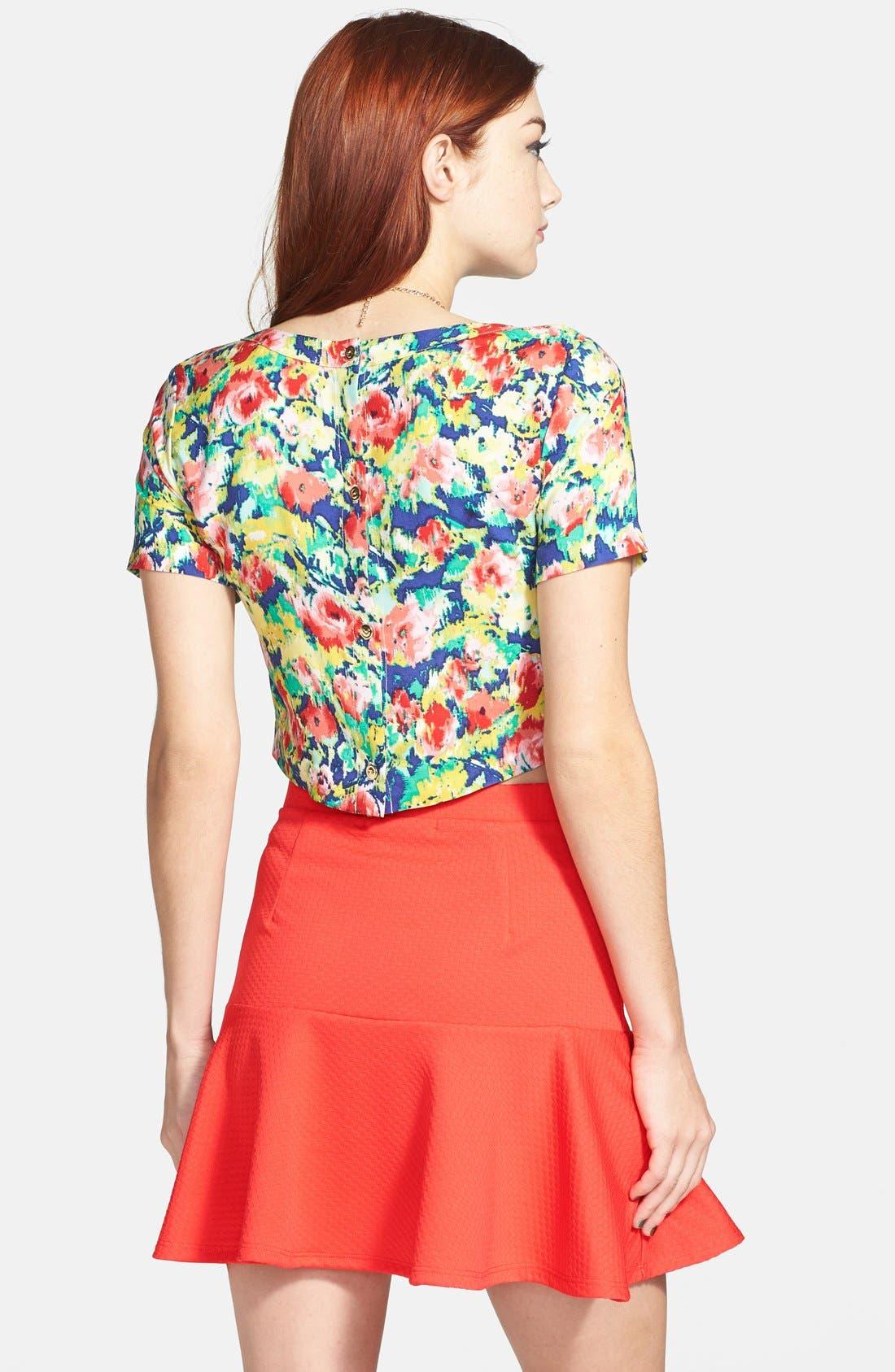 ,                             Ruffle Peplum Skirt,                             Alternate thumbnail 6, color,                             950