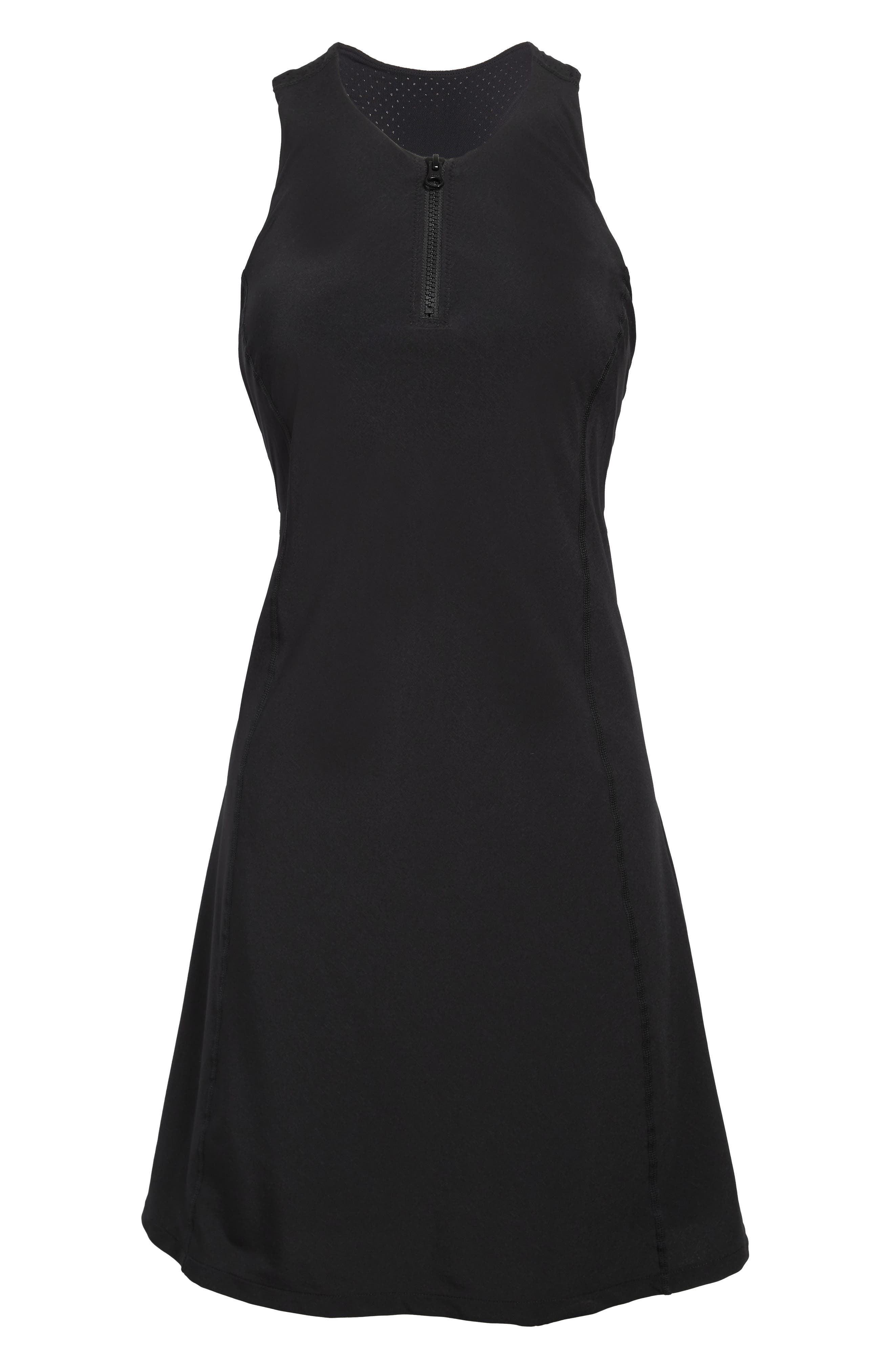 It\\\'s always your serve in this sporty sleeveless dress made from stretchy, quick-drying fabric with a breathable mesh racerback. Style Name: Zella Sun\\\'s Out Exercise Dress. Style Number: 5975698. Available in stores.