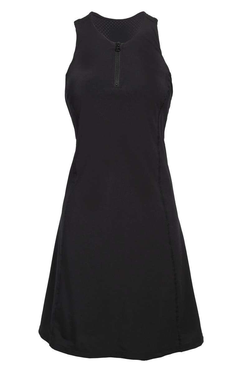 ZELLA Sun's Out Exercise Dress, Main, color, BLACK