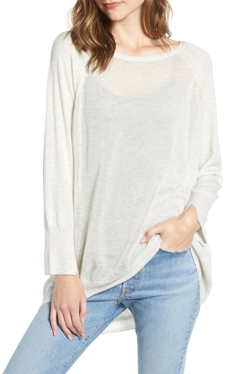 BISHOP + YOUNG Waffle Knit Sweater, Main, color, HEATHER GREY