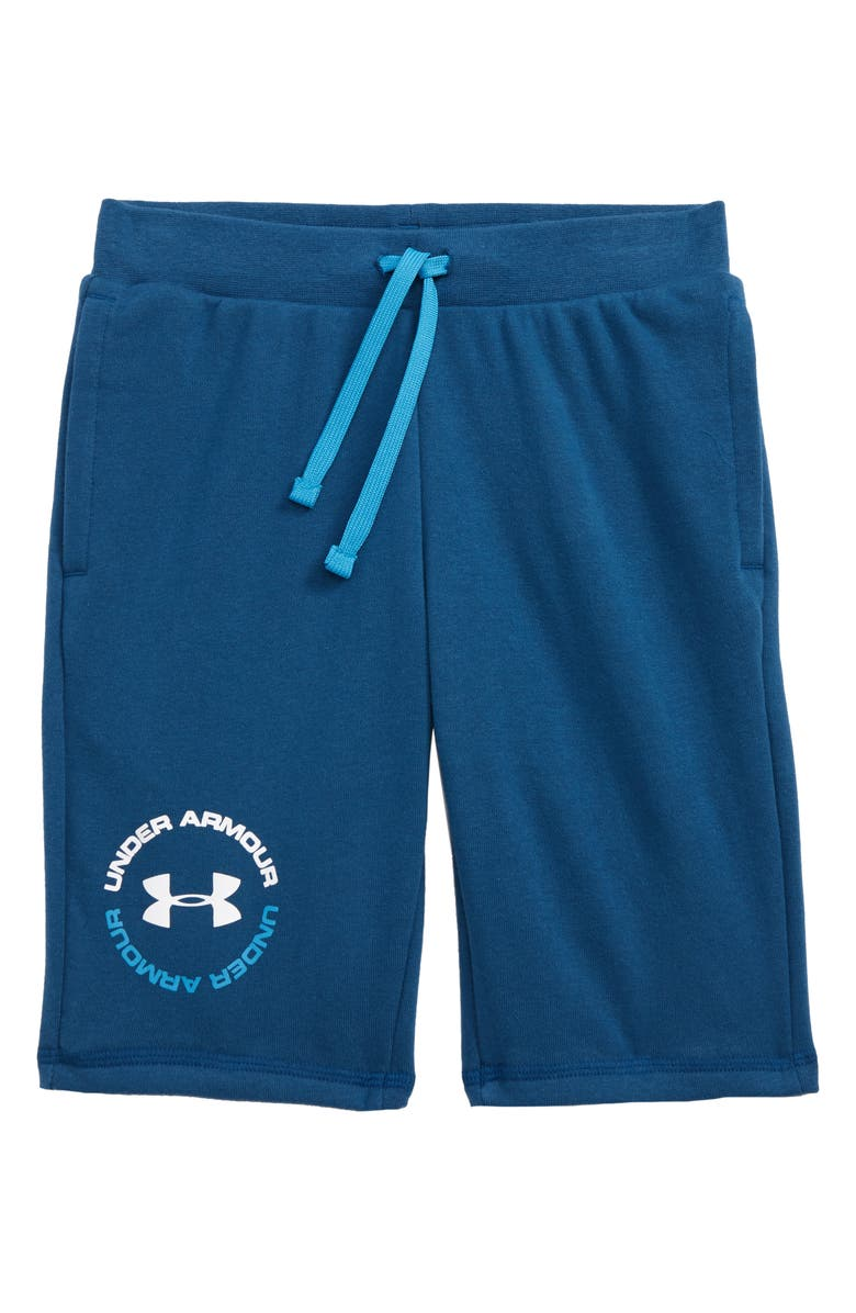 UNDER ARMOUR Rival Terry Shorts, Main, color, 437
