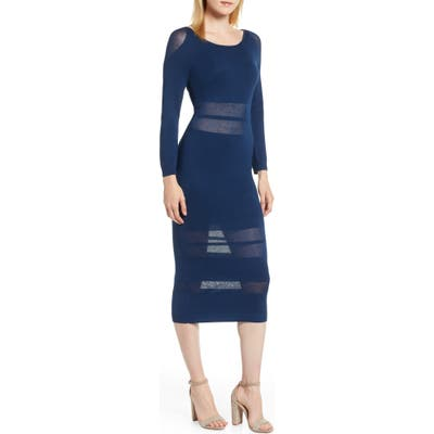 Sentimental Ny Illusion Stripe Midi Dress, Blue