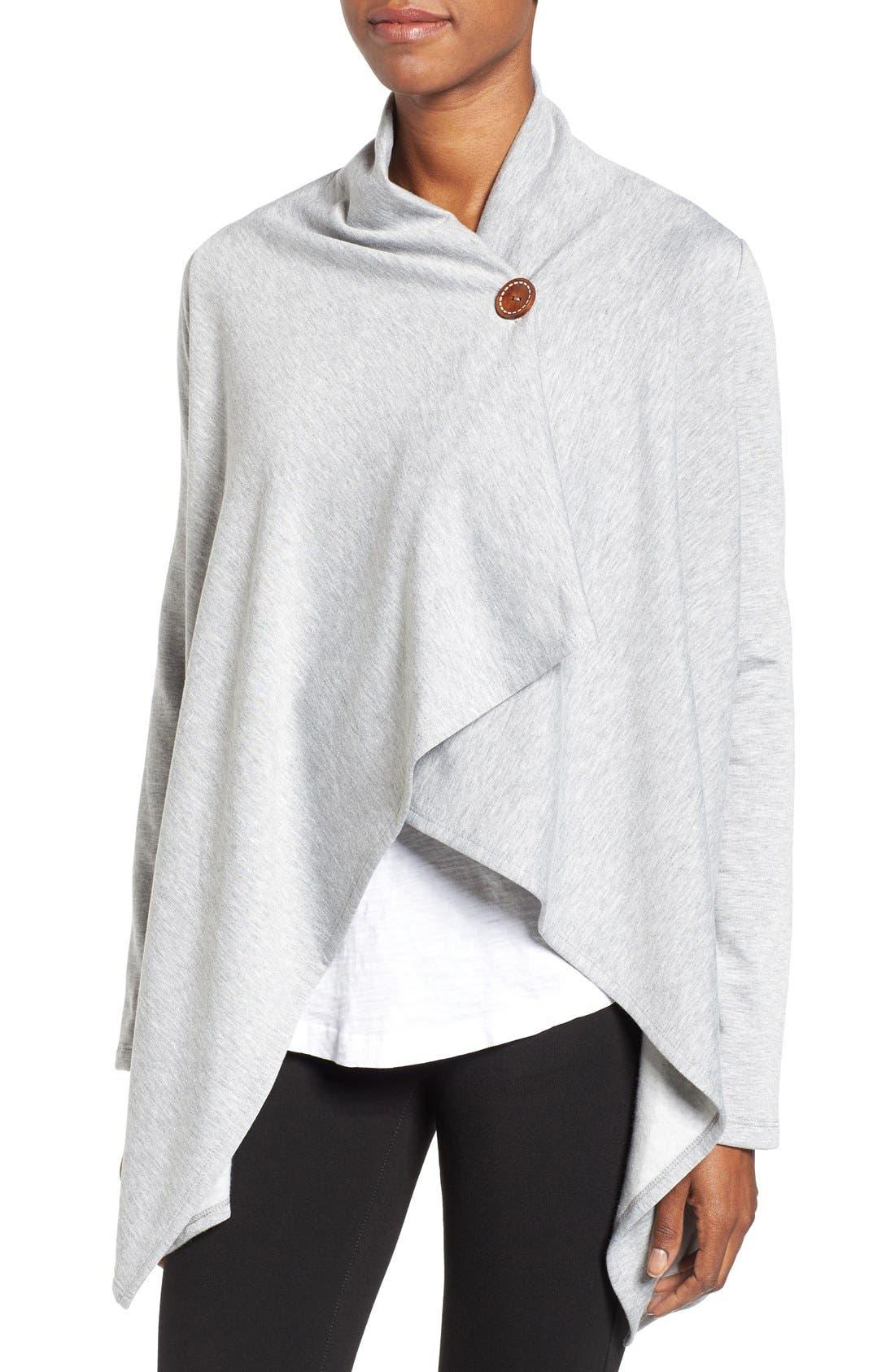 ,                             One-Button Fleece Wrap Cardigan,                             Alternate thumbnail 51, color,                             030
