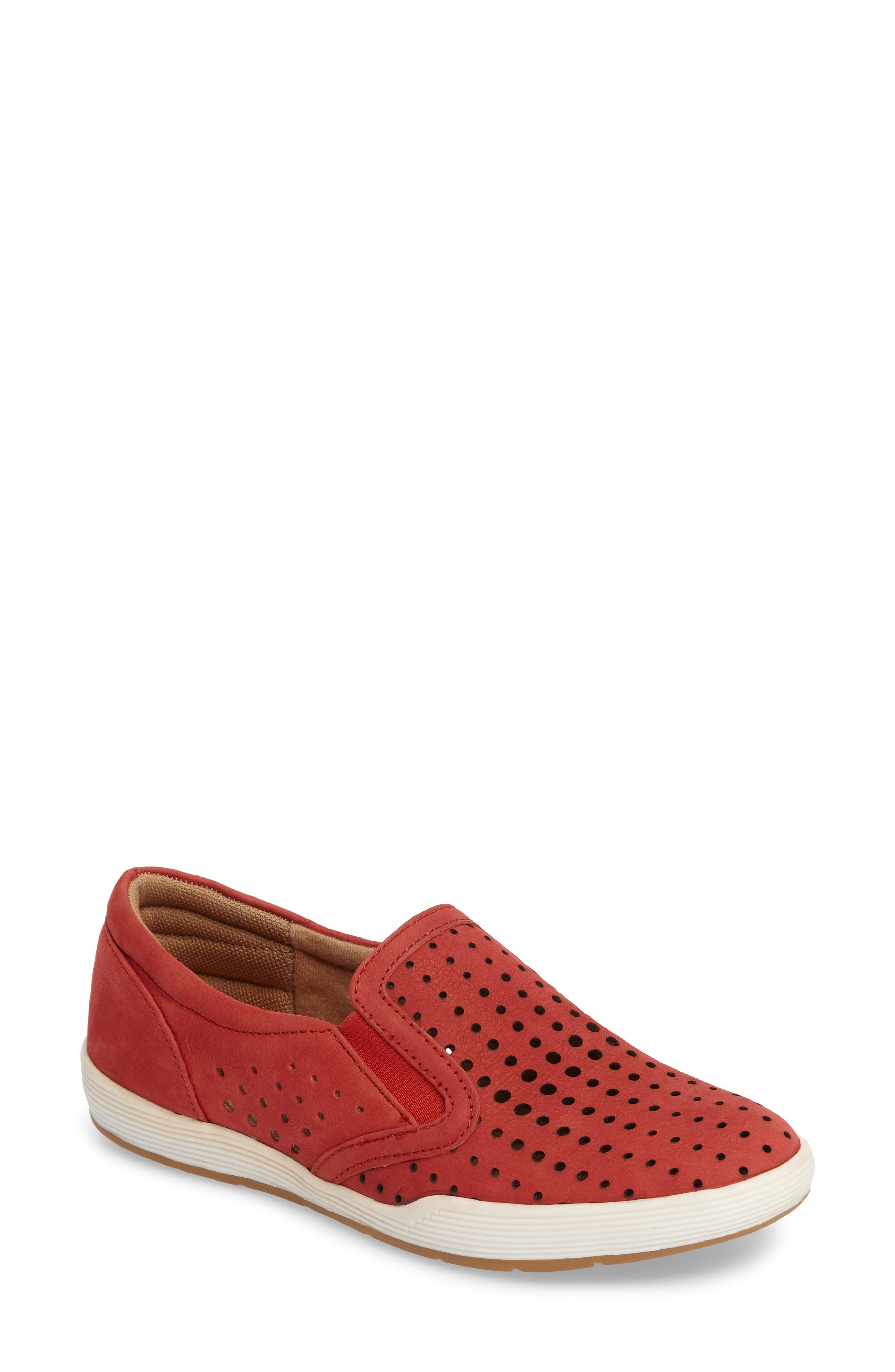 Comfortiva Lyra Perforated Slip-On Sneaker- Red