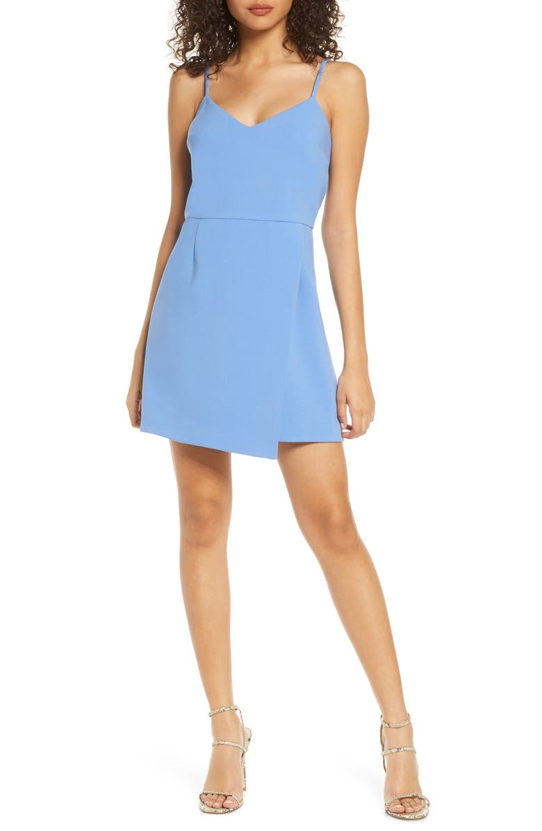 FRENCH CONNECTION Whisper Minidress, Main, color, CHALK BLUE