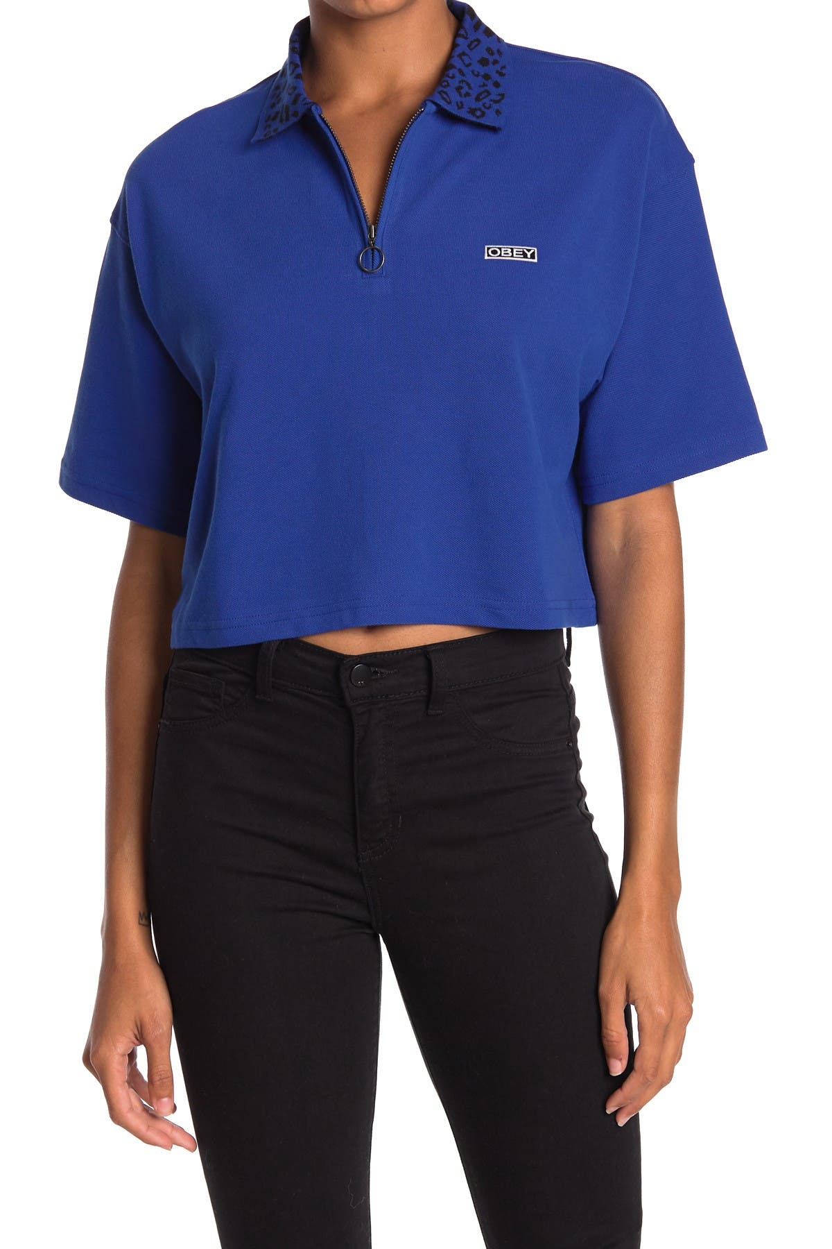 Image of Obey Liana Cropped Polo