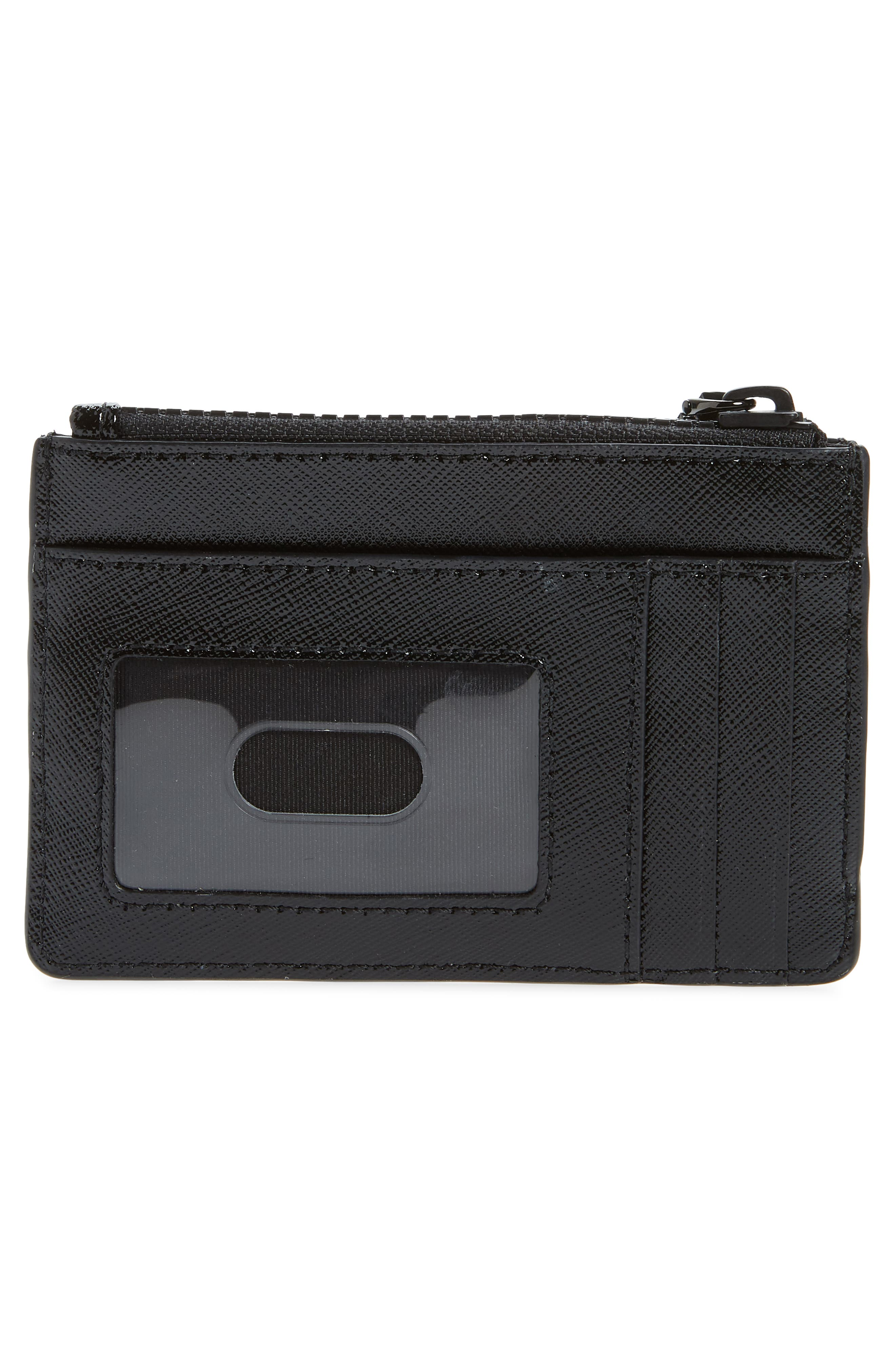 ,                             Saffiano Leather ID Wallet,                             Alternate thumbnail 4, color,                             BLACK