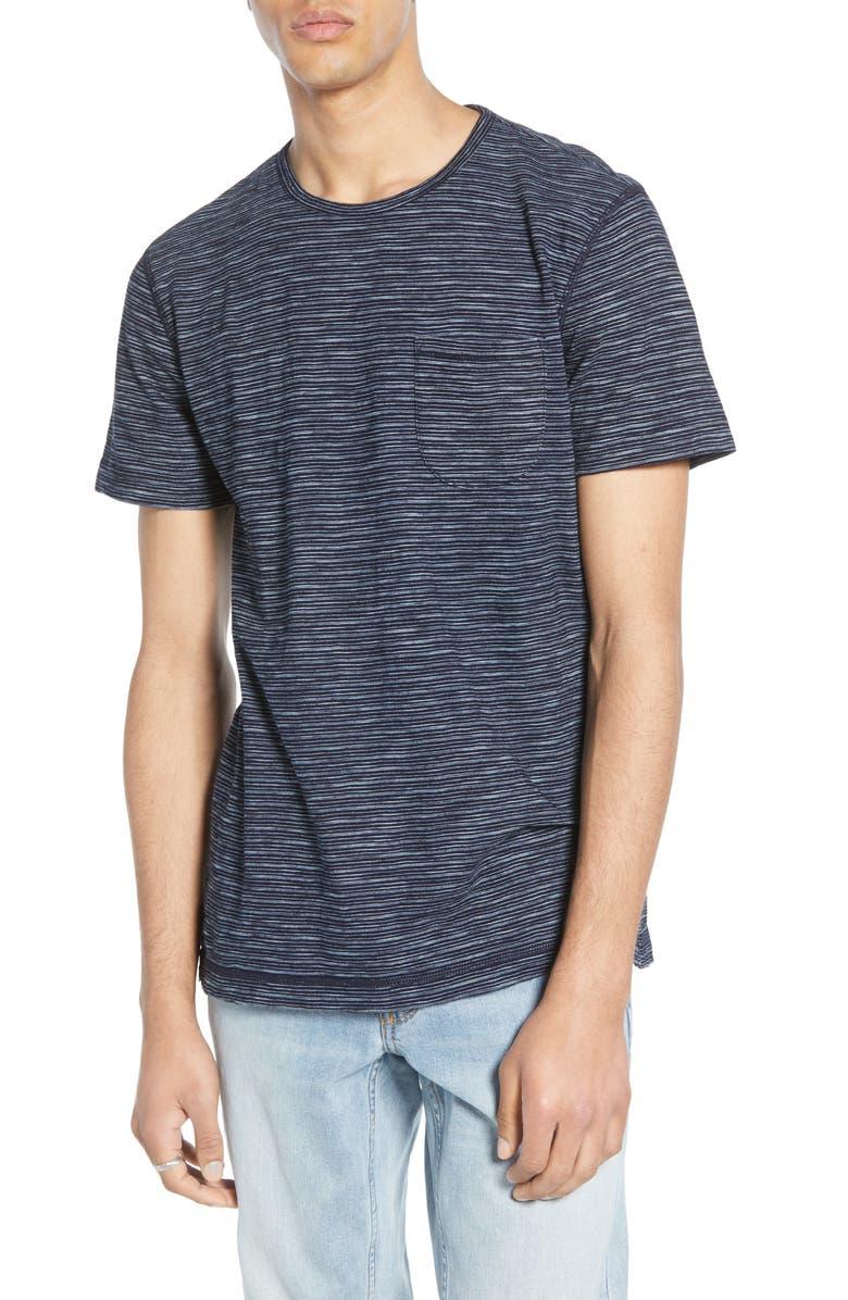 TREASURE & BOND Fine Stripe Pocket T-Shirt, Main, color, 401