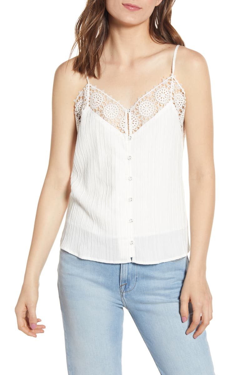 Alliaura Lace Trim Textured Camisole by Cupcakes And Cashmere