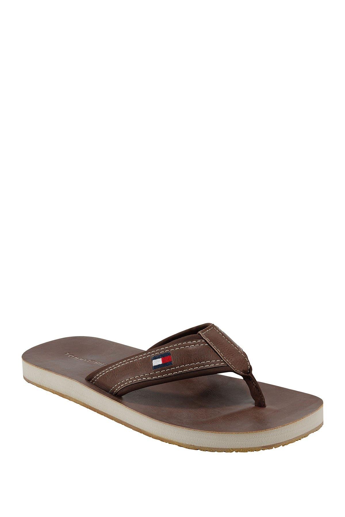 Image of Tommy Hilfiger Dunes Leather Flip Flop