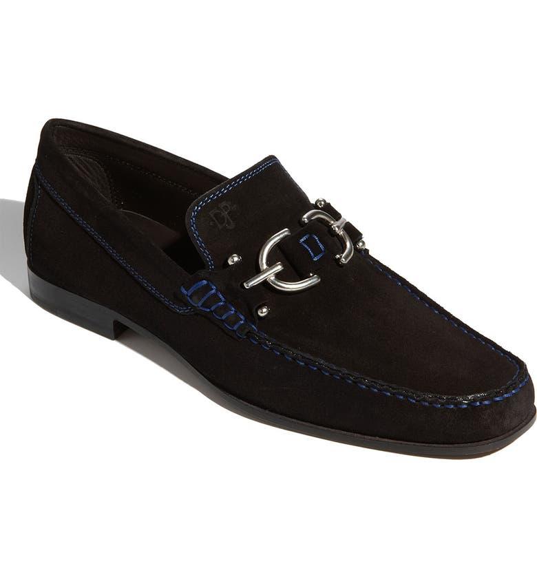 DONALD PLINER Dacio II Loafer, Main, color, BLACK SUEDE