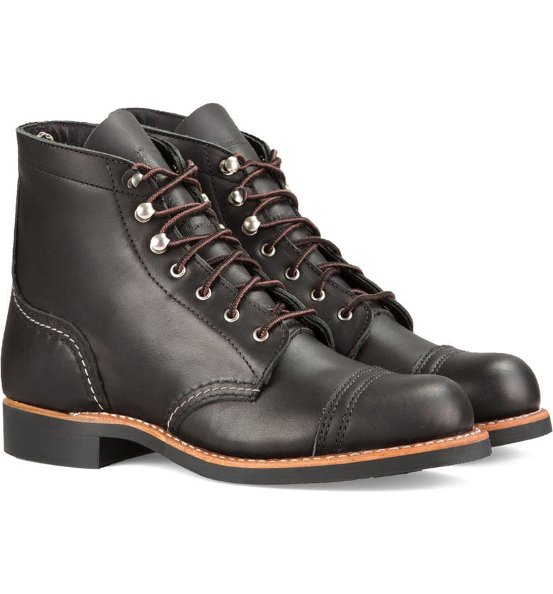 RED WING Iron Ranger Boot, Main, color, BLACK BOUNDARY LEATHER