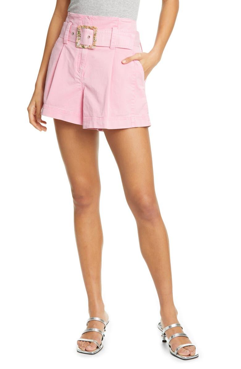 TANYA TAYLOR Lena Belted Shorts, Main, color, 660
