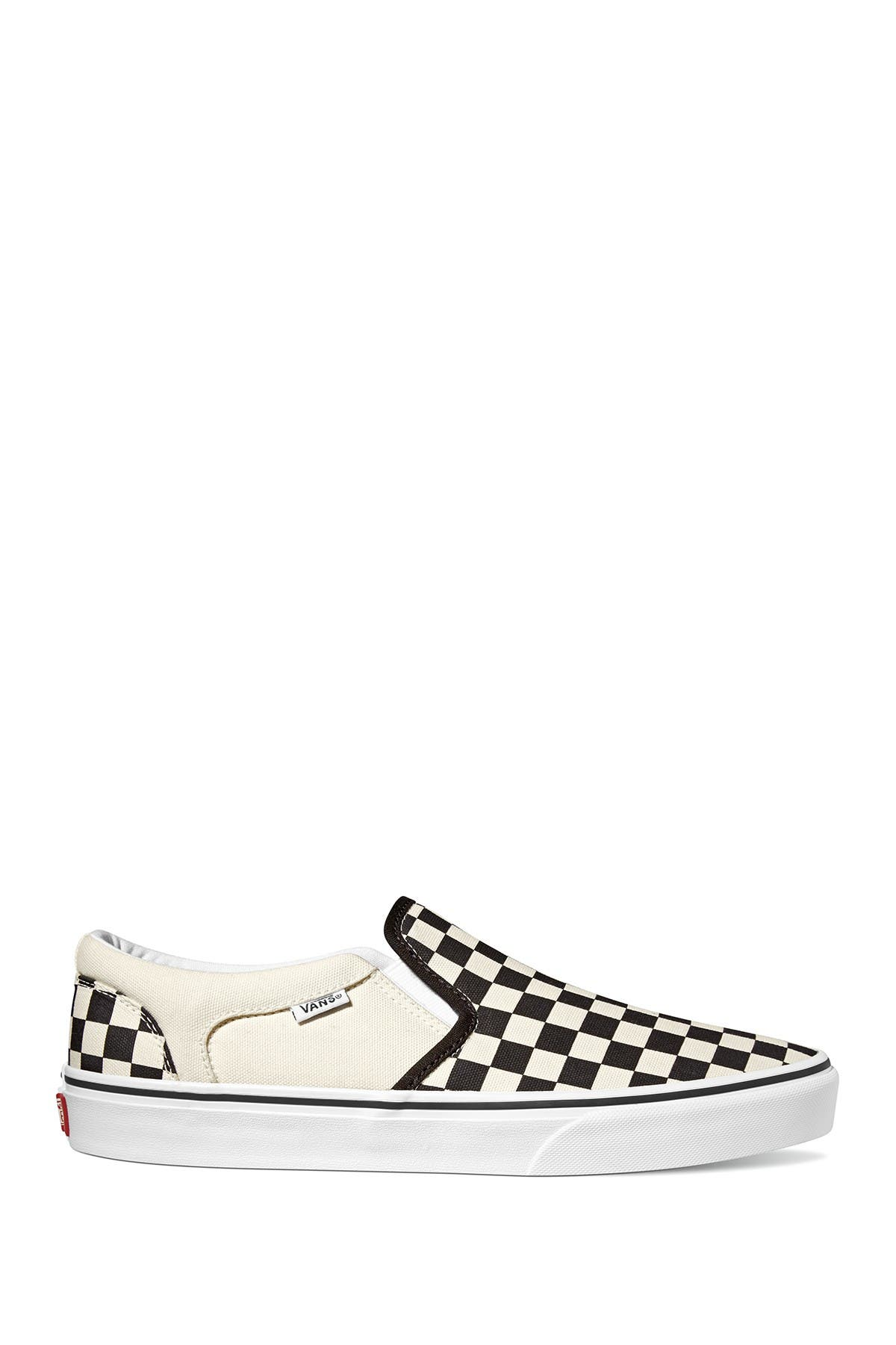 Image of VANS Asher V Slip-On Checkerboard Sneaker