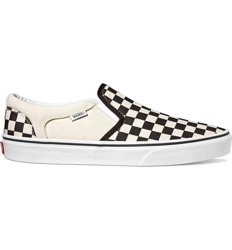 Asher V Slip-On Checkerboard Sneaker   Nordstromrack