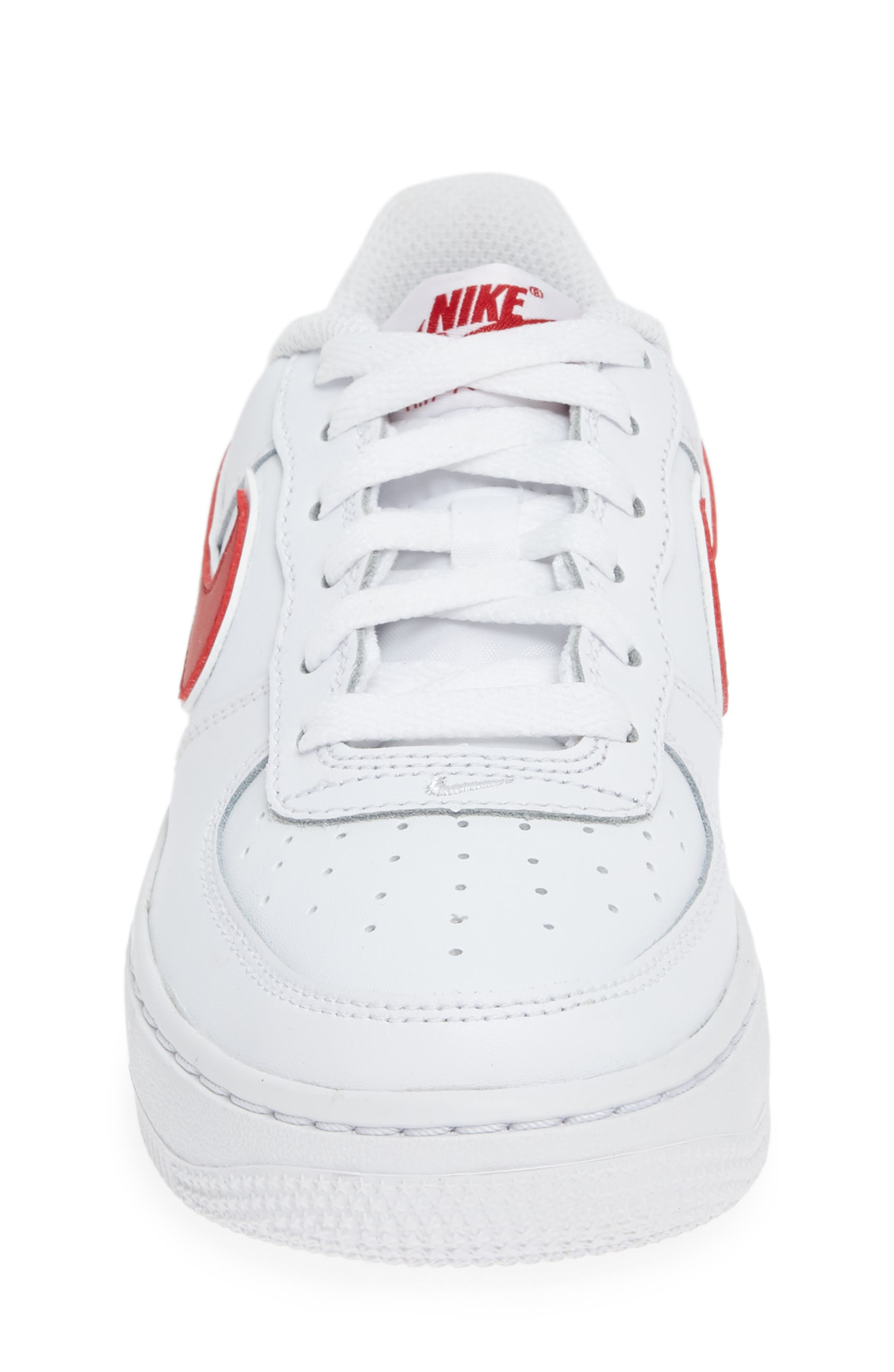 ,                             Air Force 1-3 Sneaker,                             Alternate thumbnail 4, color,                             WHITE/ GYM RED