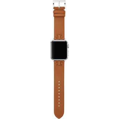 Tory Burch Mcgraw Leather Apple Watch Strap