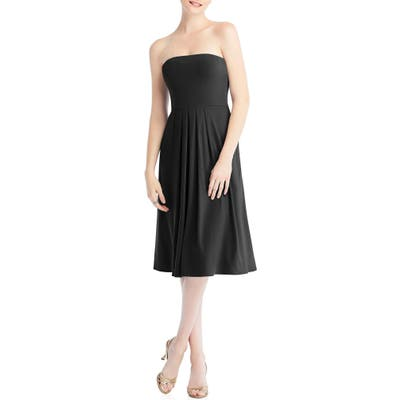 Dessy Collection Multi-Way Loop Fit & Flare Dress, Black