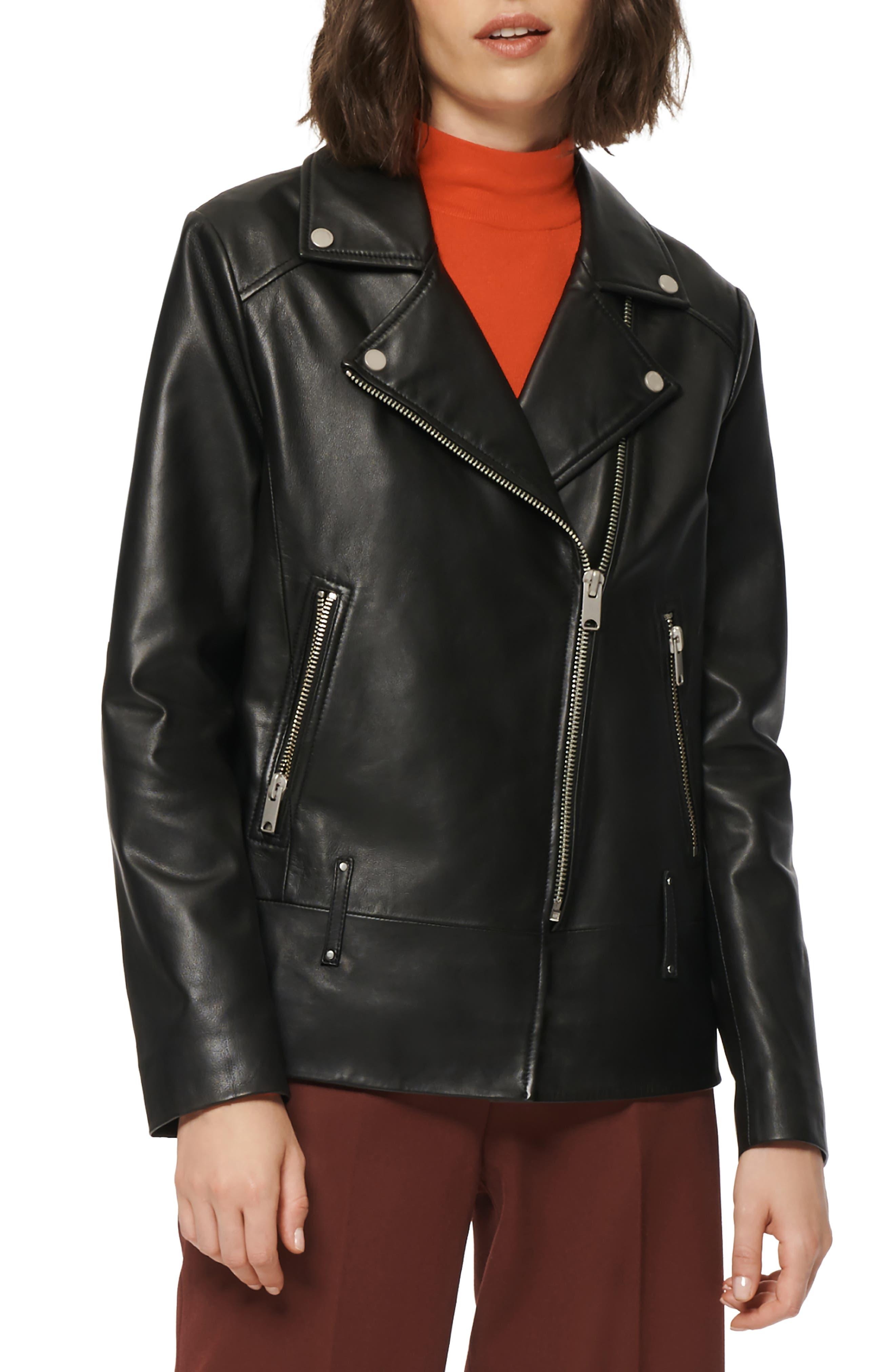 Elongated Leather Moto Jacket