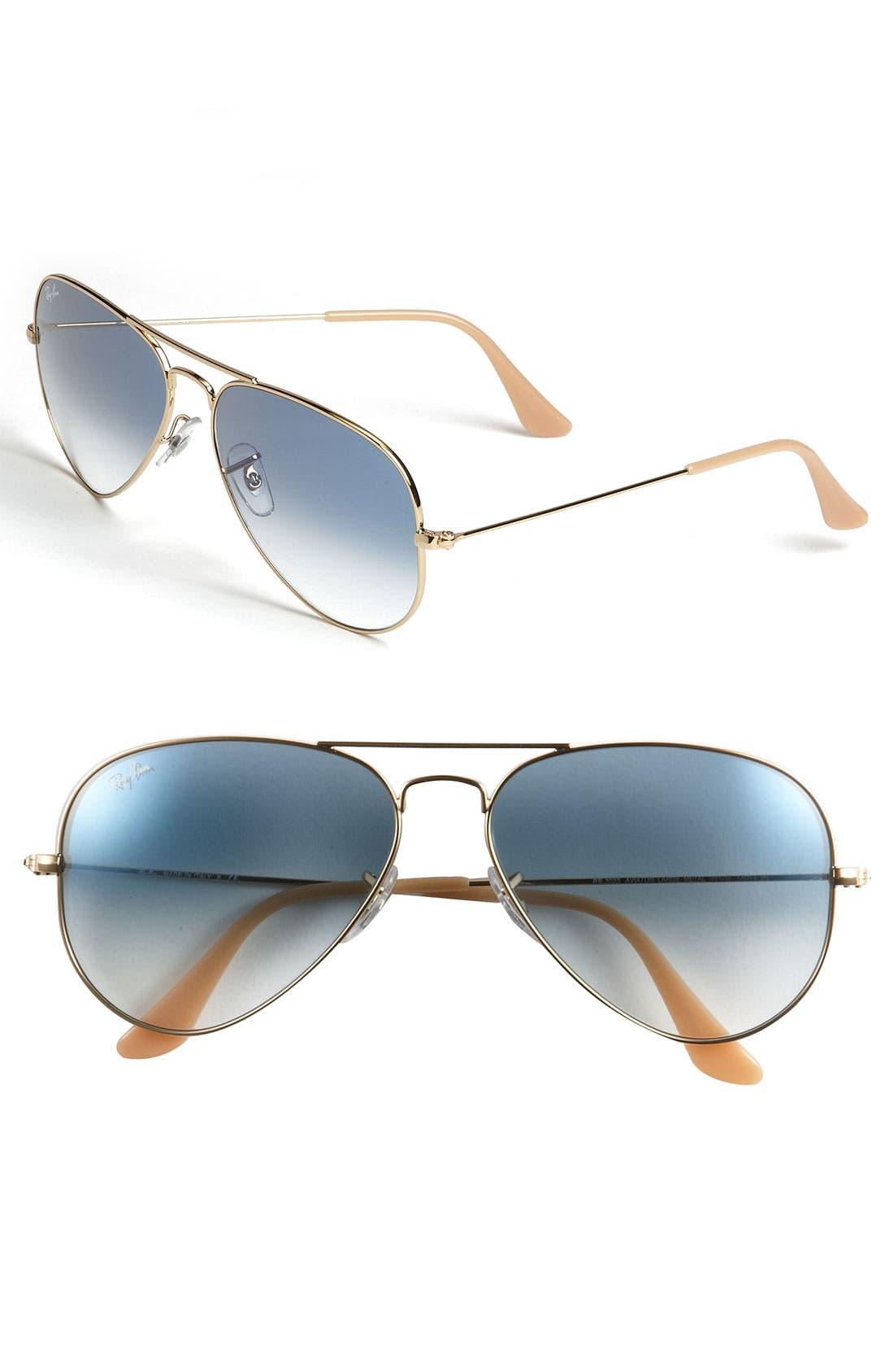 Ray-Ban Standard Original 5m Aviator Sunglasses - Gold/ Blue Gradient