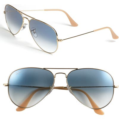 Ray-Ban Standard Original 5m Aviator Sunglasses - Gold/ Blue Gradient