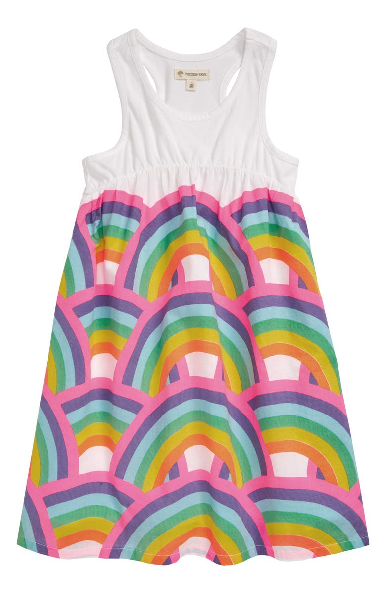 TUCKER + TATE Print Racerback Tank Dress, Main, color, 100