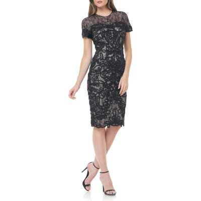 Js Collections Soutache Lace Cocktail Dress, Black