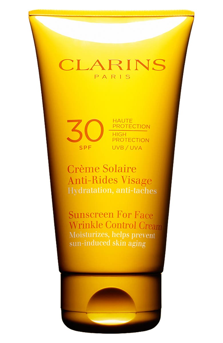 CLARINS Sunscreen for Face Wrinkle Control Cream SPF 30, Main, color, 000
