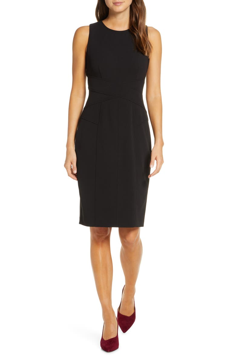 Sleeveless Crepe Sheath Dress by Vince Camuto