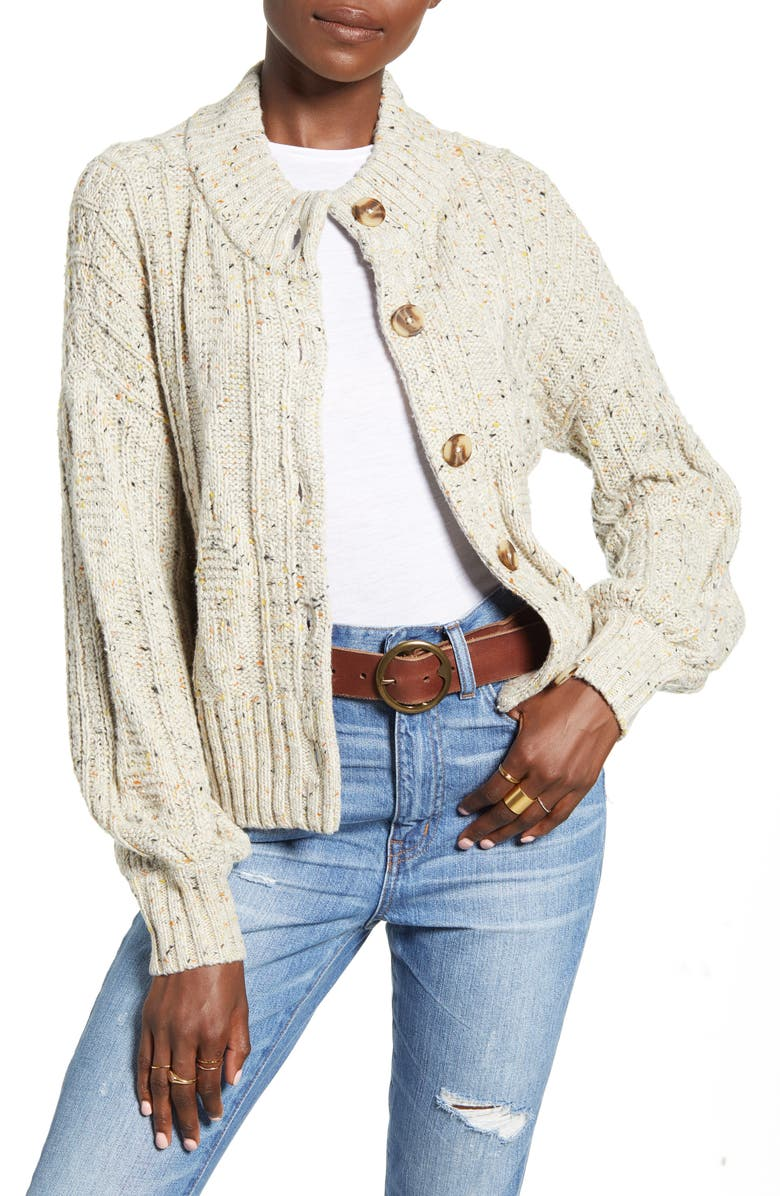 MADEWELL Maguire Cardigan, Main, color, DONEGAL STONE