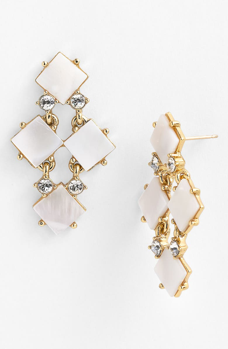 KATE SPADE NEW YORK 'pearl cove' chandelier earrings, Main, color, 900