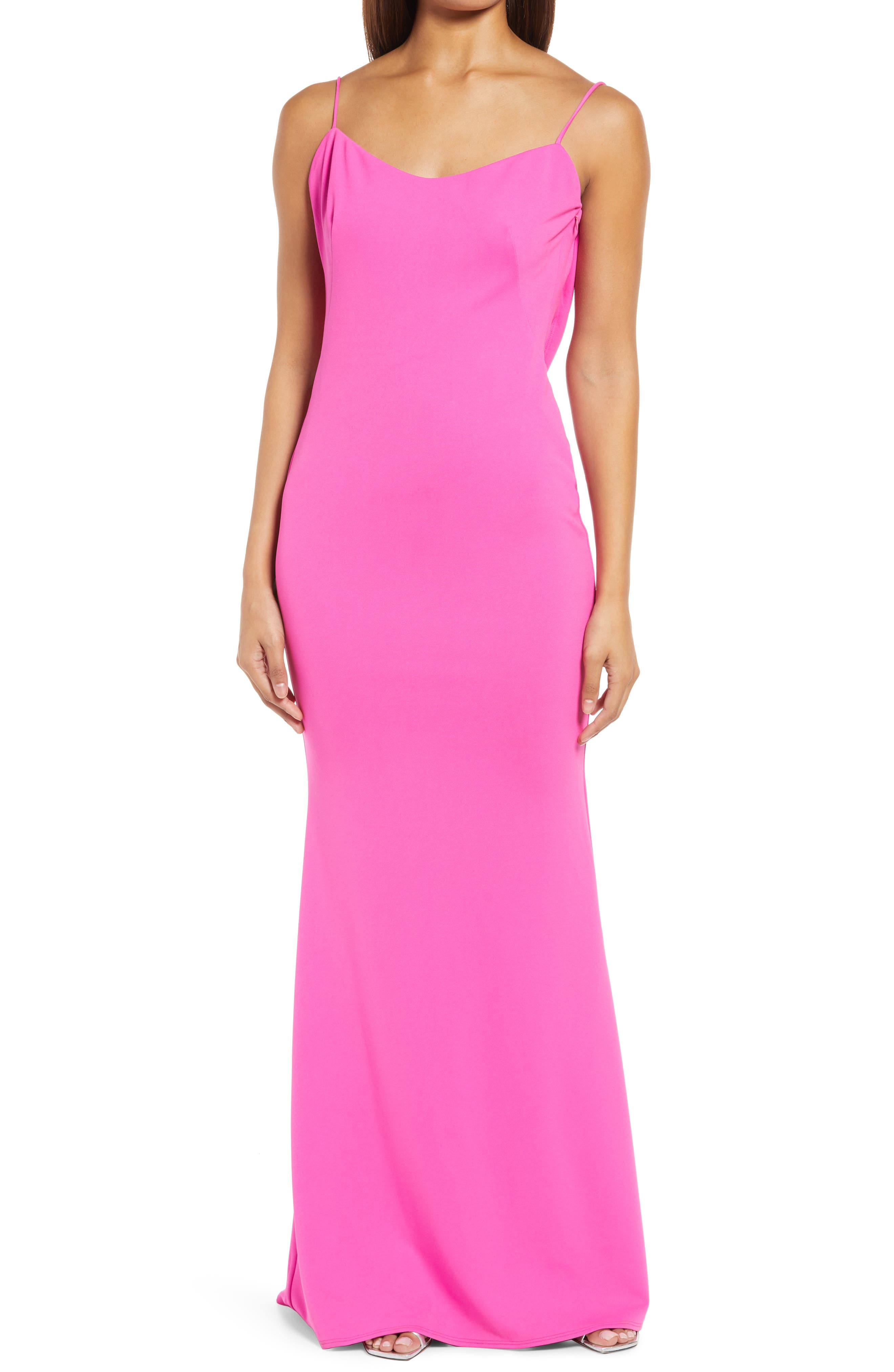 The Gina Backless Trumpet Gown