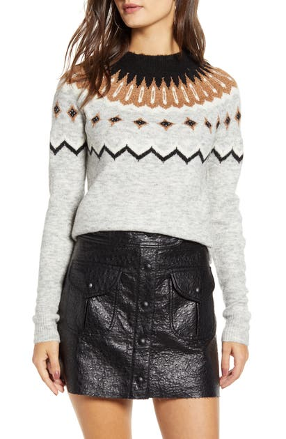 Vero Moda Sweaters INTARSIA METALLIC SWEATER