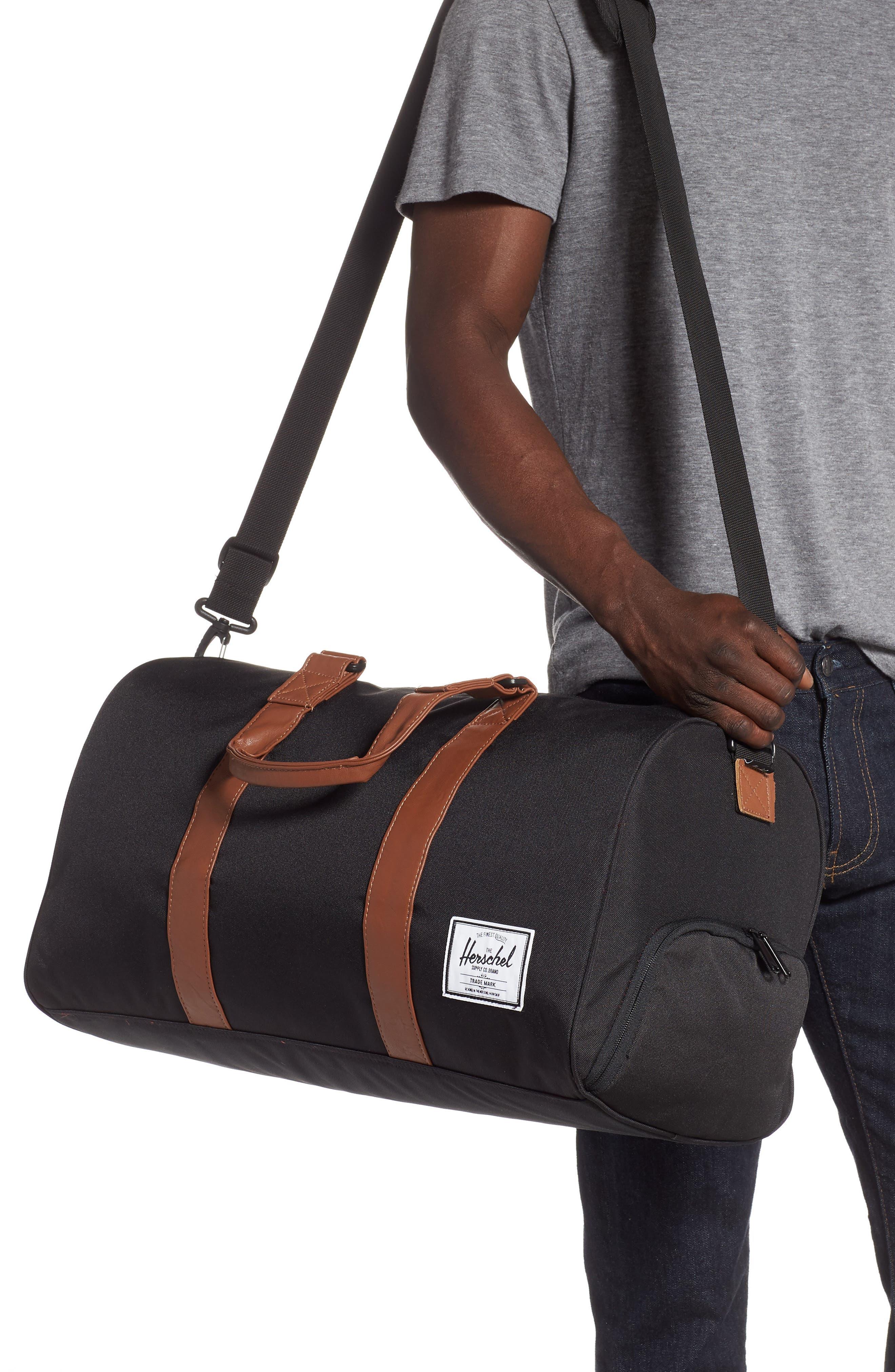,                             Novel Duffle Bag,                             Alternate thumbnail 2, color,                             BLACK/ TAN