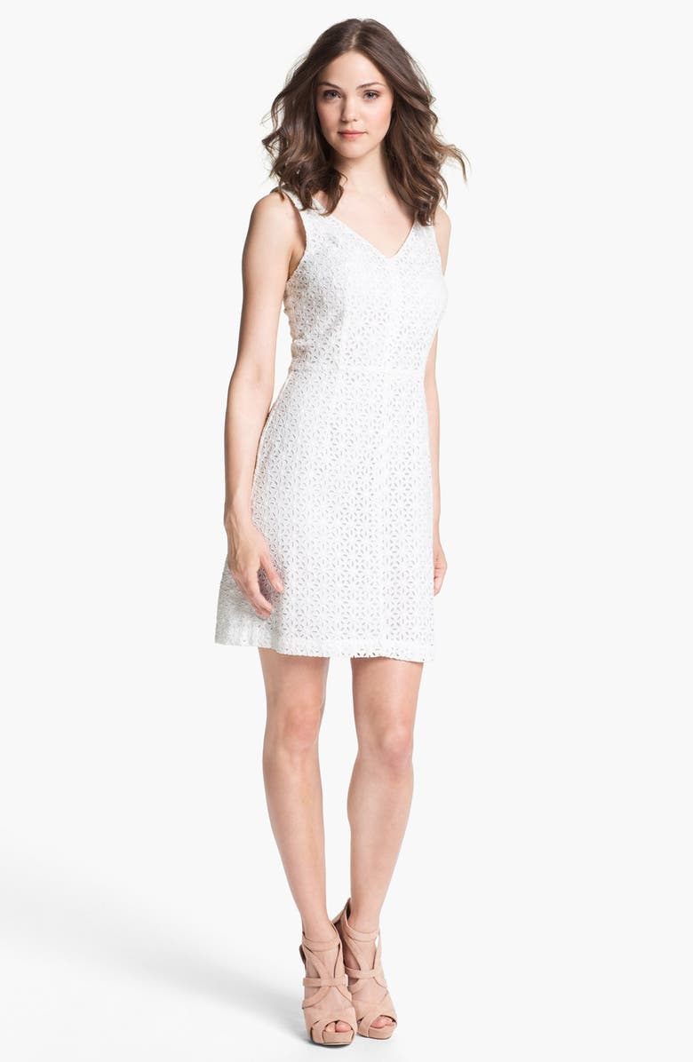 MATTY M Lace Sheath Dress, Main, color, 106