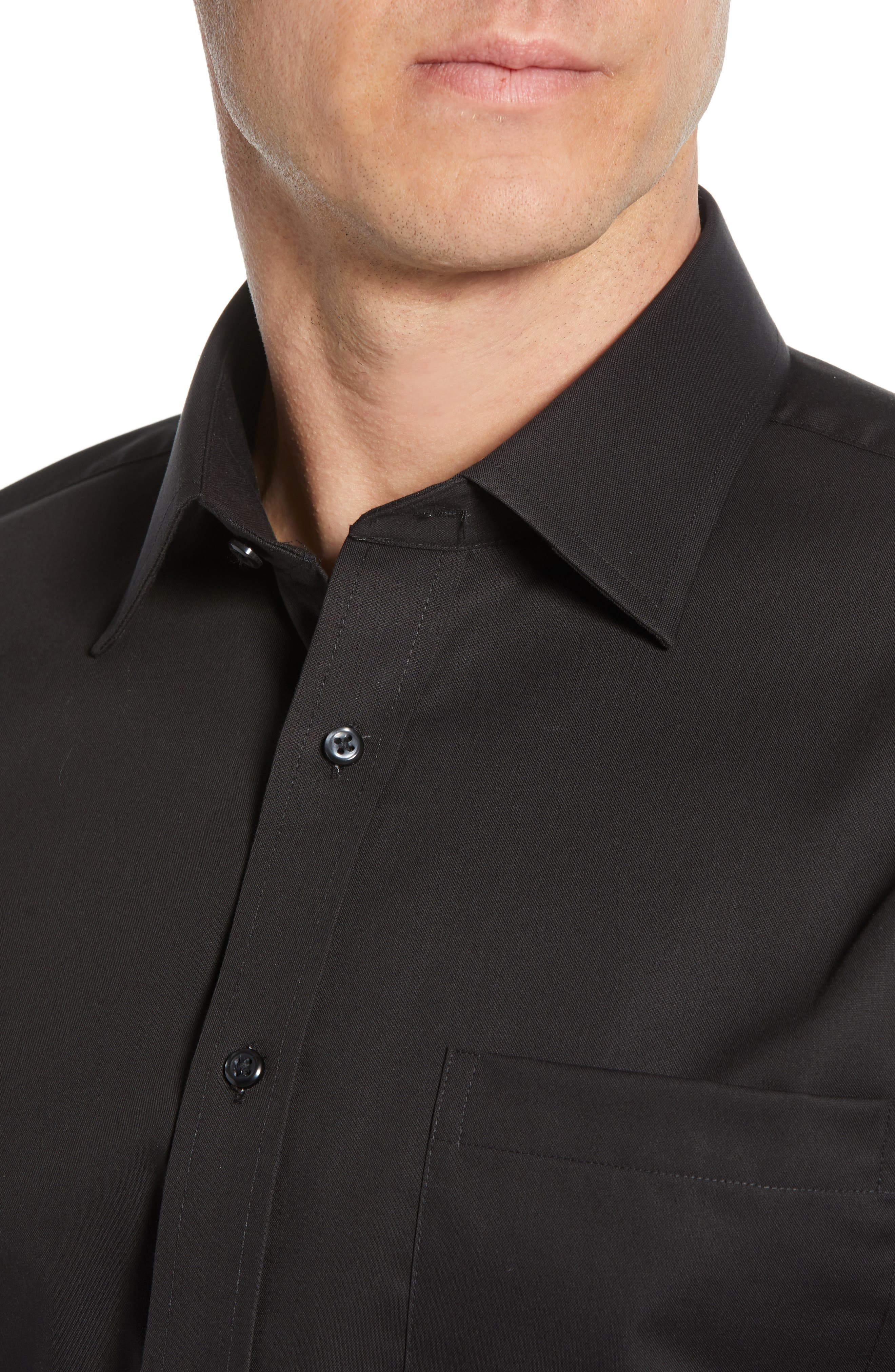 ,                             Traditional Fit Non-Iron Dress Shirt,                             Alternate thumbnail 2, color,                             BLACK