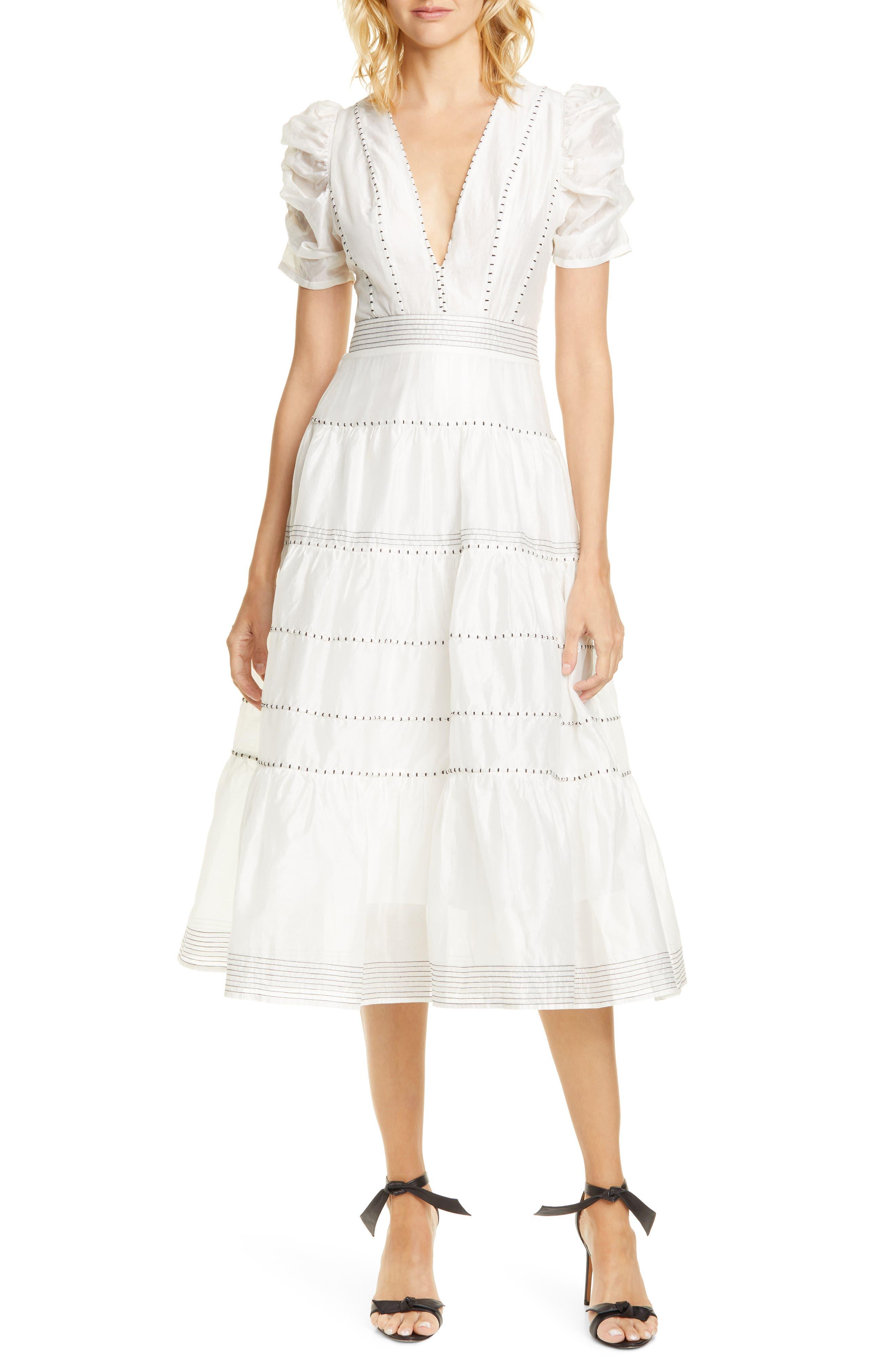 Ulla Johnson Odilie Midi Dress, White