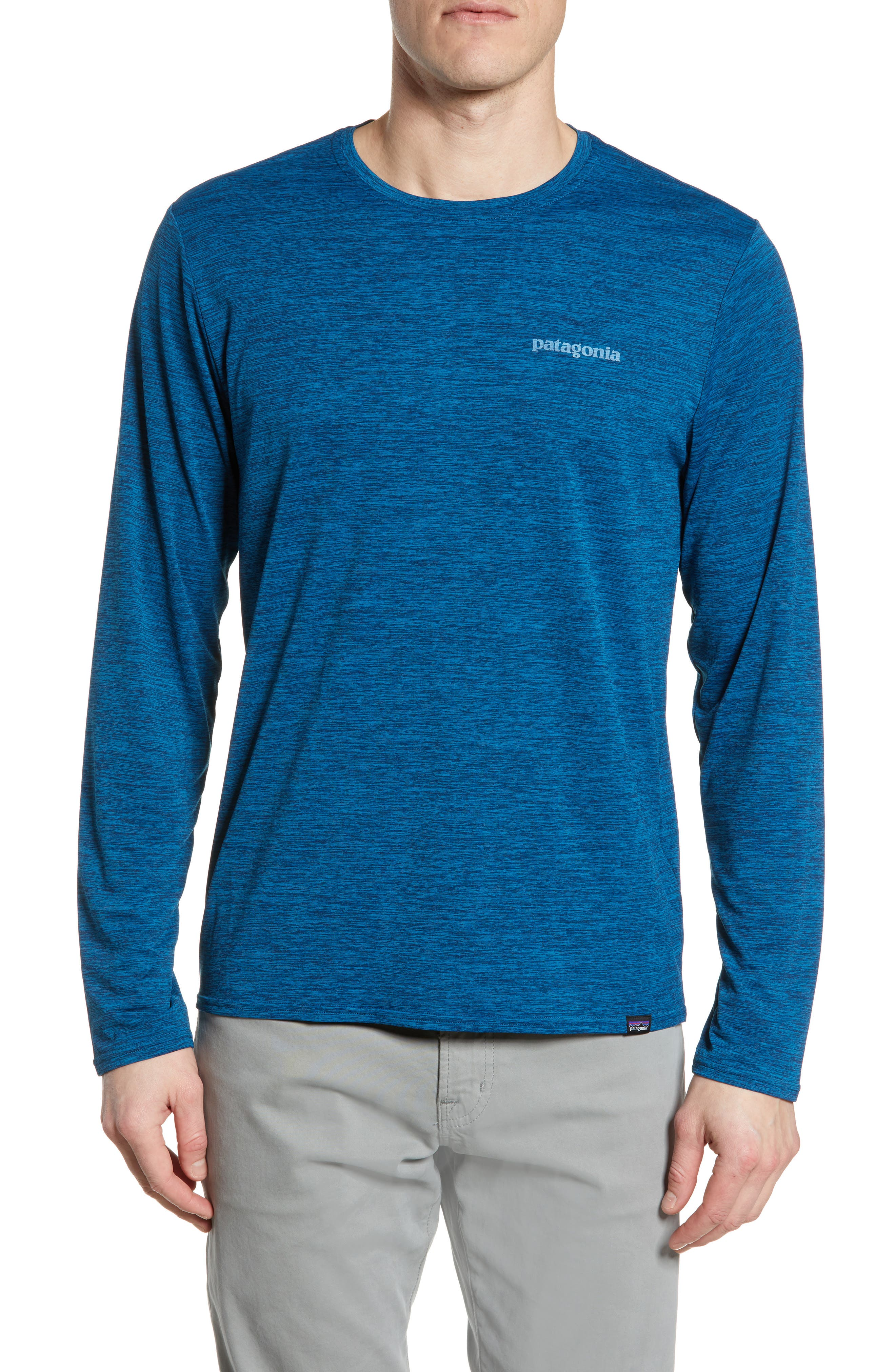 Patagonia Capilene Cool Daily Long Sleeve T-Shirt, Blue