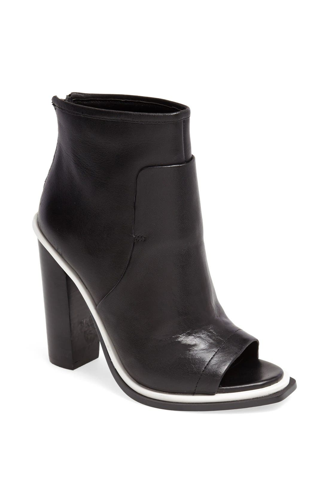 'Pounce' Peep Toe Boot, Main, color, 001