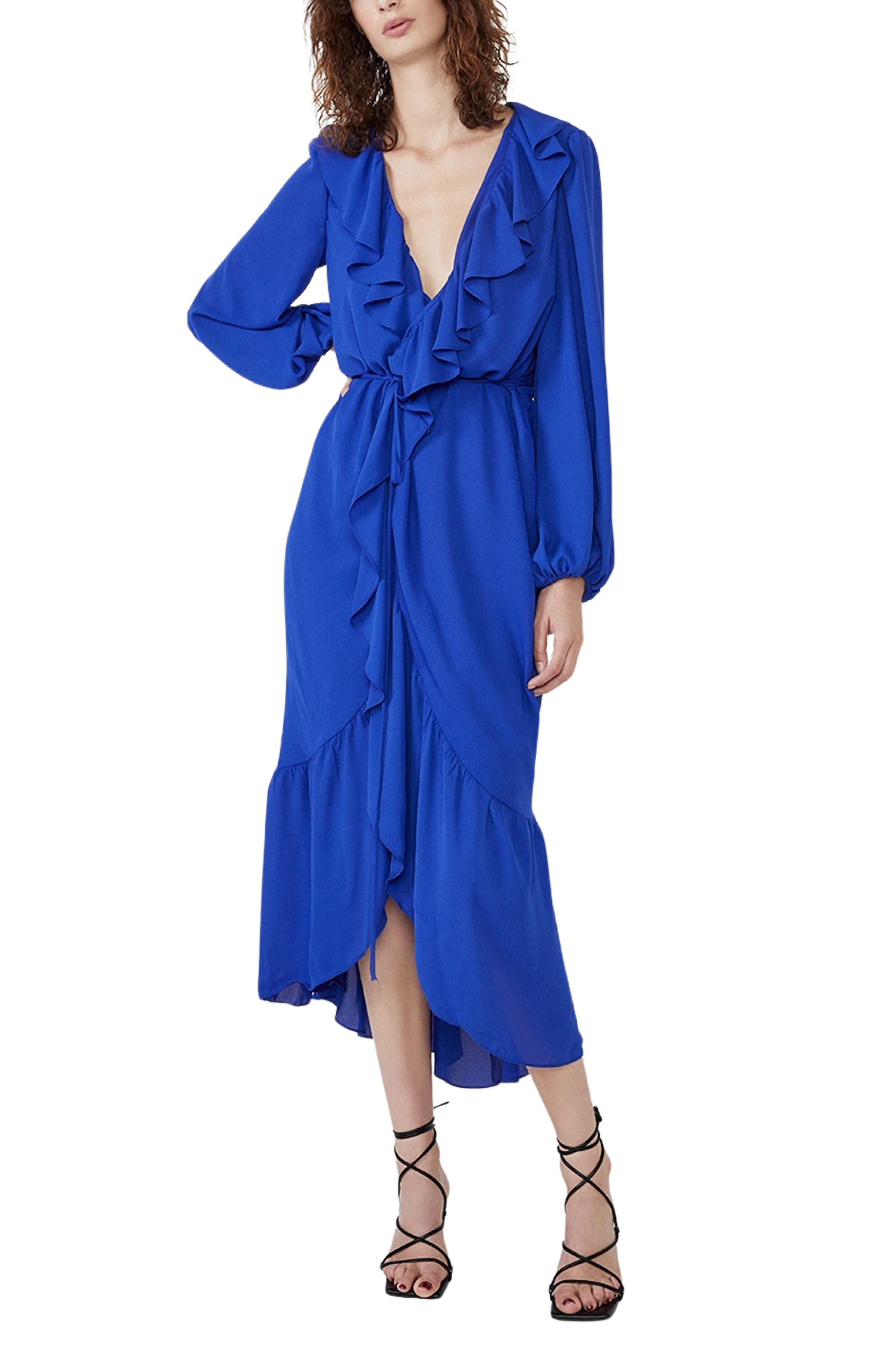 Sophya Long Sleeve Wrap Dress