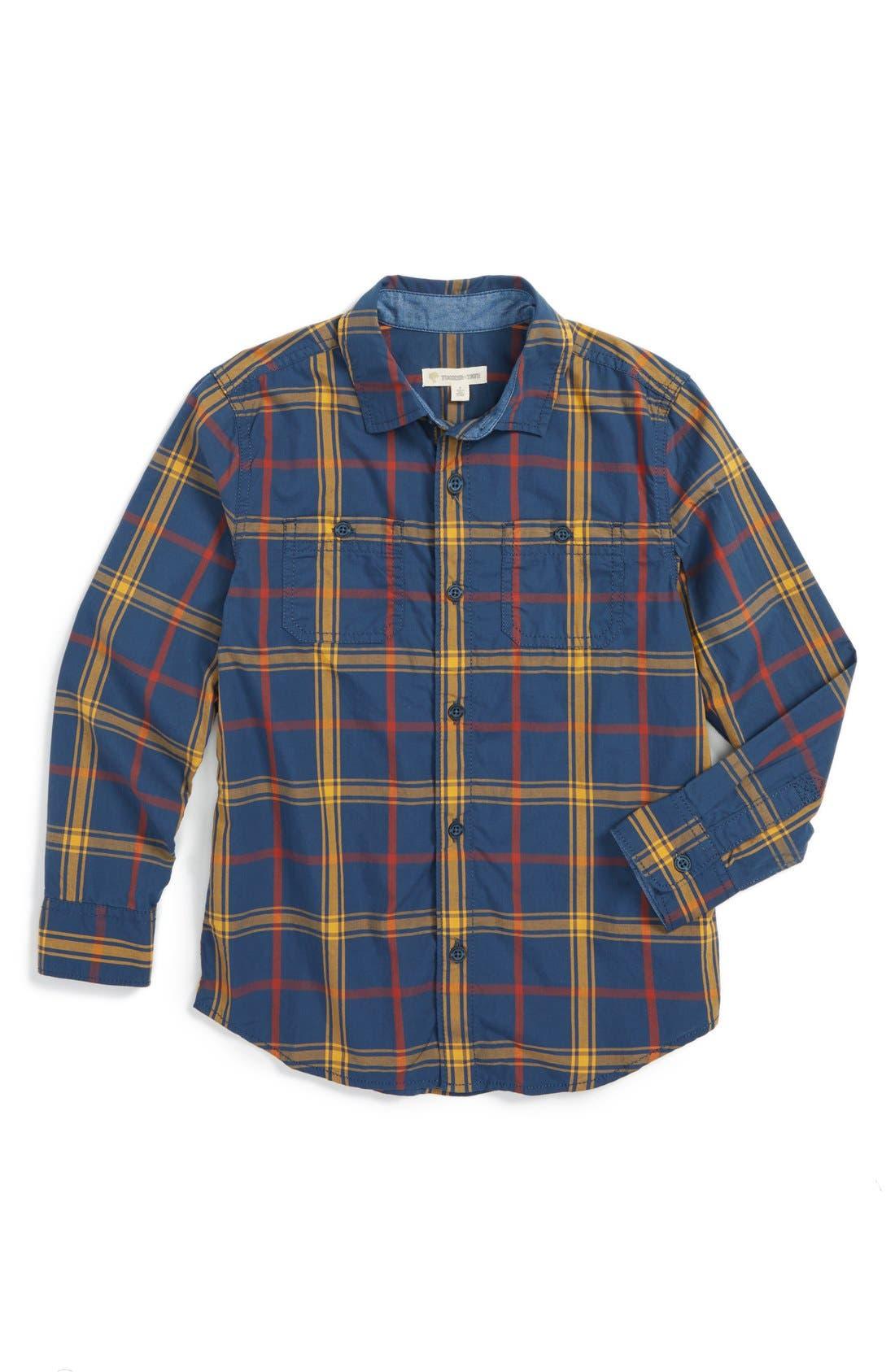 ,                             'Photo' Buffalo Plaid Woven Shirt,                             Main thumbnail 22, color,                             411