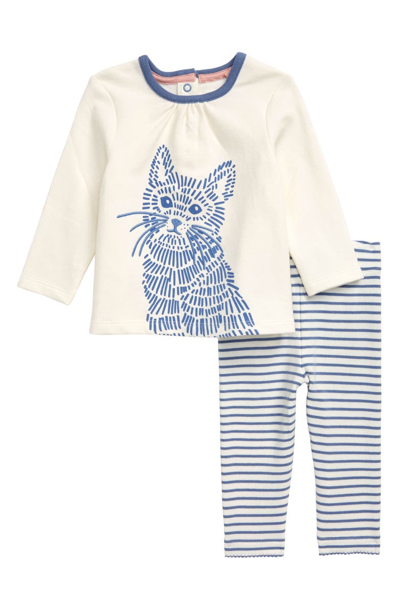 MINI BODEN Jersey Top & Leggings Set, Main, color, SEA MIST