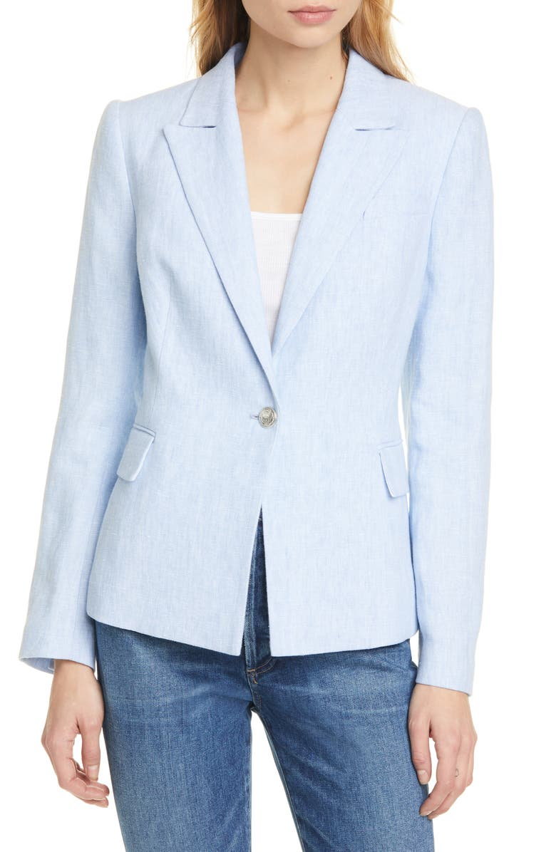 JUDITH & CHARLES Philip Linen Jacket, Main, color, SKY