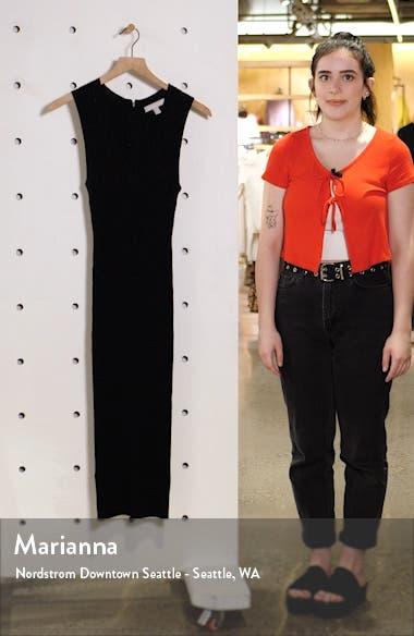 Sparkle Knit Sleeveless Midi Sweater Dress, sales video thumbnail