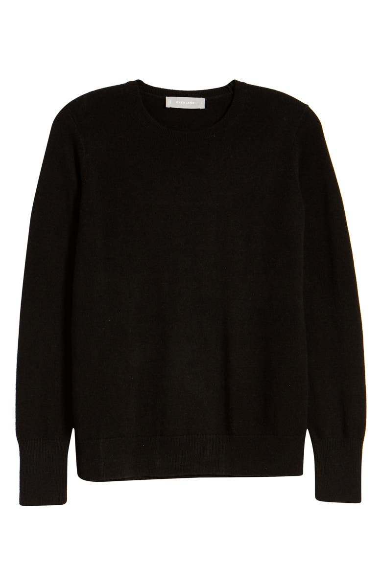 EVERLANE The Cashmere Crew Sweater, Main, color, BLACK