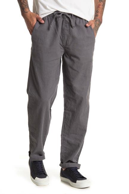 Image of Onia Carter Linen Blend Drawstring Pants