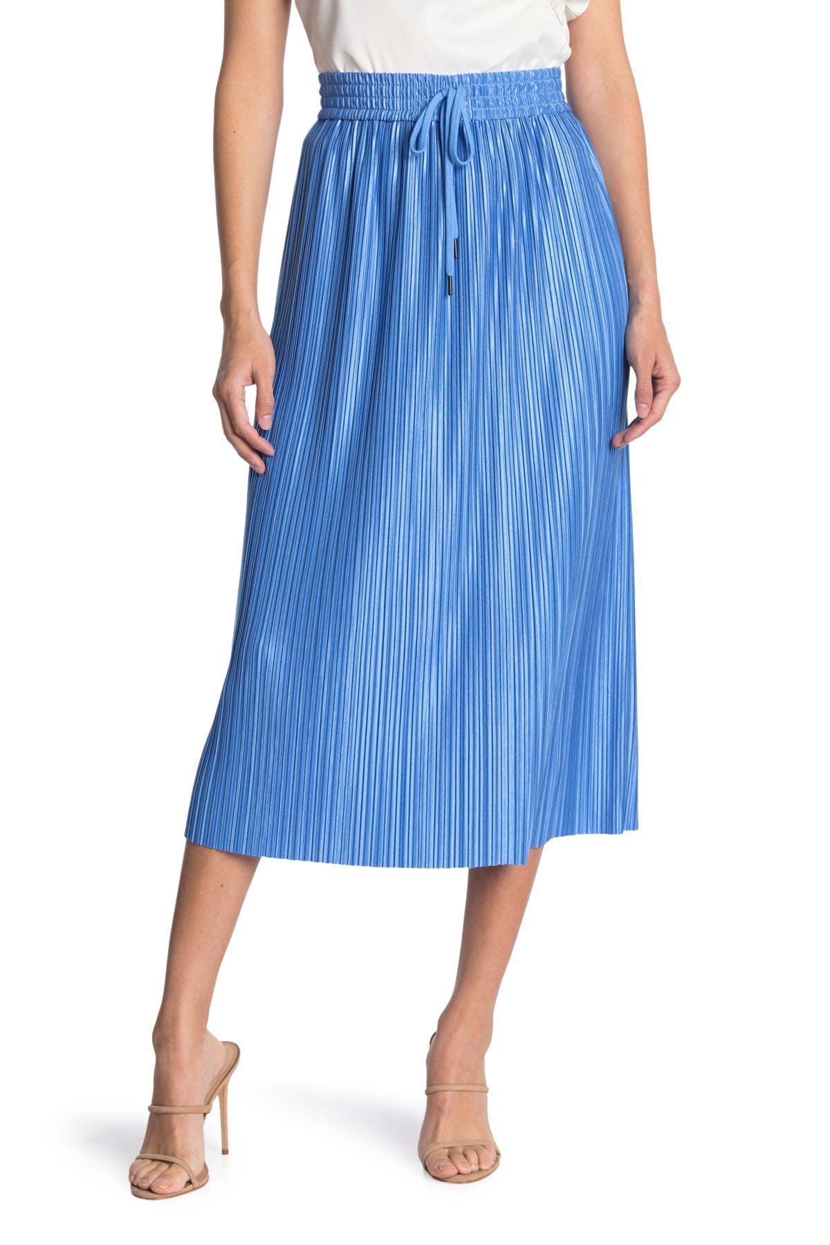 Alice And Olivia Midi skirts DIXIE DRAWSTRING PLEATED MIDI SKIRT