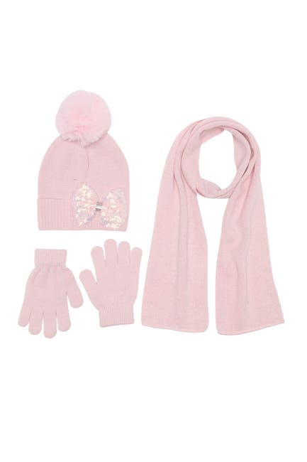 Image of Curls & Pearls Beane, Gloves & Scarf Set