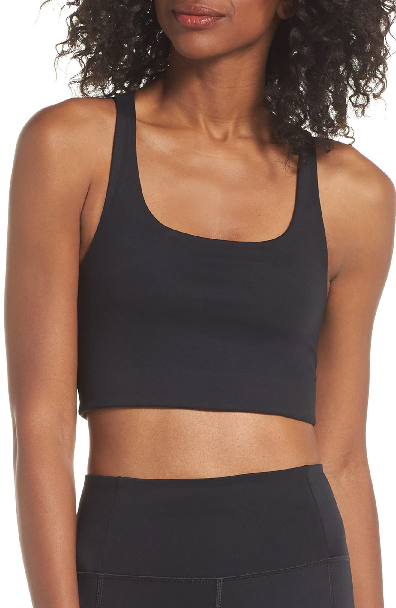 Girlfriend Collective Paloma Sports Bra, Black