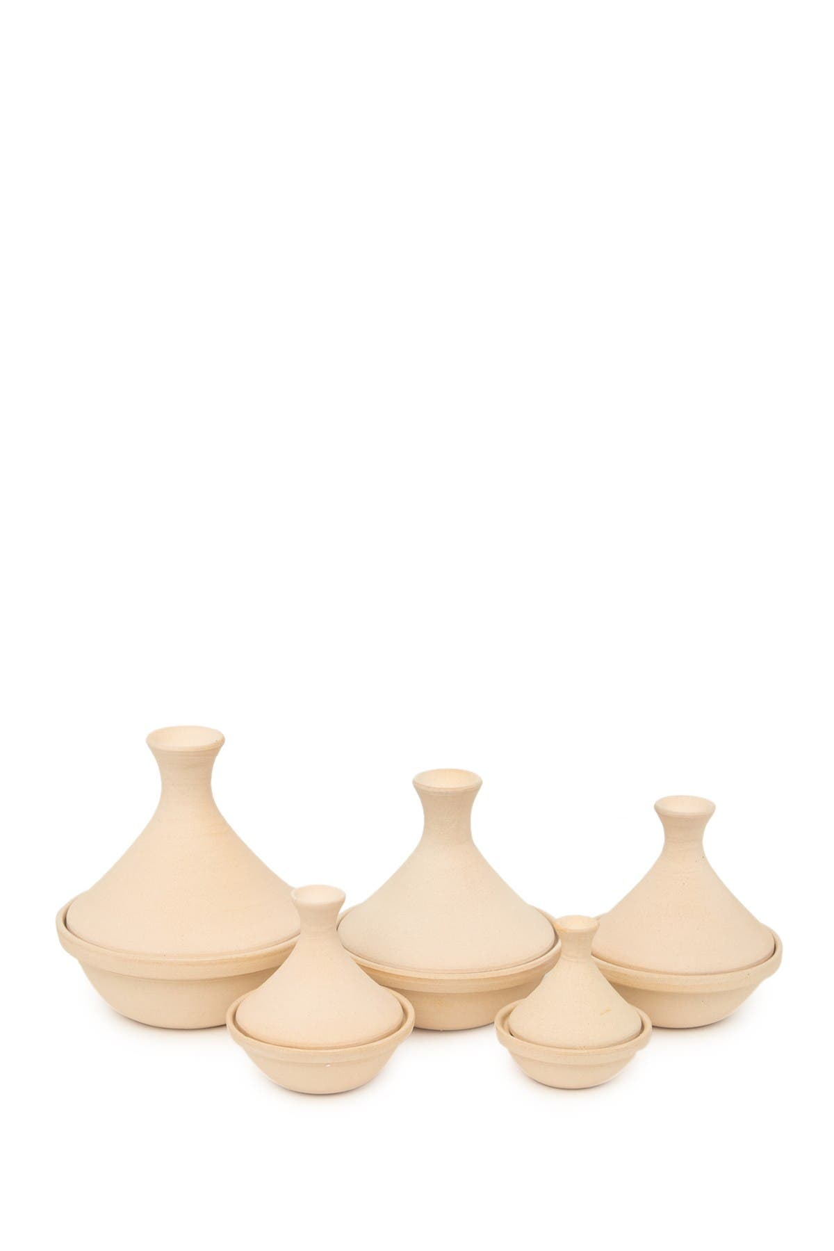 Image of ROOST Safi Stoneware Tagine - Oat - Set of 5